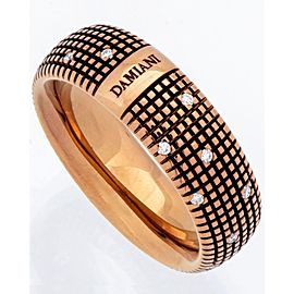 Damiani 18K Rose Gold Diamond Ring Size 9.5
