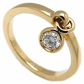 Christian Dior 18K Yellow Gold Diamond Ring Size 4.75