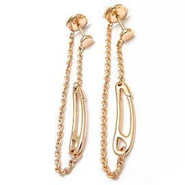 Hermes 18K Rose Gold Chaine d'Ancre Earrings
