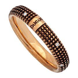 Damiani 18K Rose Gold Diamond Wedding Ring Size 11