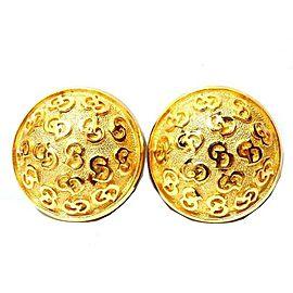Christian Dior Gold Tone CD Logo Earrings