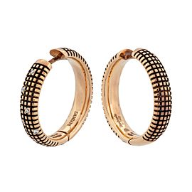 Damiani 18K Rose Gold Diamond Earrings