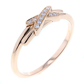 Chaumet Lian 18K Rose Gold Diamond Ring Size 5.25