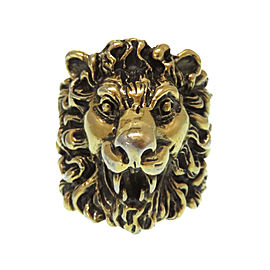 Gucci Gold Tone Lion Ring Size 9.75