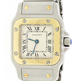 Cartier Santos Galbée Steel & Gold Ladies Watch 24mm 166930