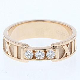 Tiffany & Co. 18K RG Atlas Diamond 3P Diamond Ring