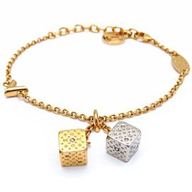 Louis Vuitton Gold Tone Dice Bracelet