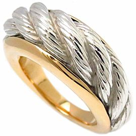 Van Cleef & Arpels 18K White & Yellow Gold Ring Size 6.75