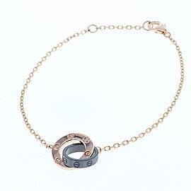 Cartier 18K RG Ceramic 3P Diamond Bracelet