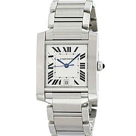 Cartier Tank Francaise 2302 28mm Mens Watch