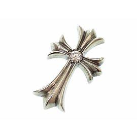 Chrome Hearts Sterling Silver Diamond Cross Pendant
