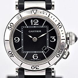 Cartier Pasha Sea Timer W3140003 32mm Womens Watch
