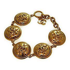 Chanel Gold Tone CC Bracelet
