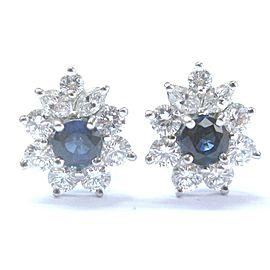 Tiffany & Co. Platinum Sapphire Diamond Earrings