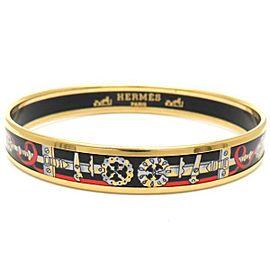 Hermes Gold Tone Enamel Bracelet