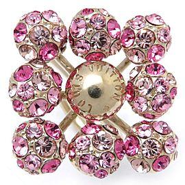 Louis Vuitton Bague Mille Et Une Nuit Gold Tone Rhinestone Ring Size 5.25