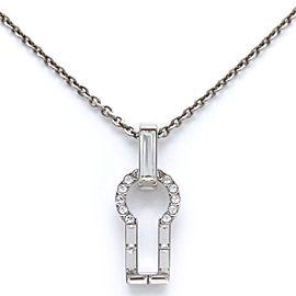 Louis Vuitton Silver Tone Swarovski Crystal Necklace