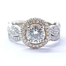 Simon G. 18K White Gold 1.47CTW Diamond Ring Size 6