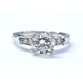 Harry Winston Platinum 0.99ctw Round Diamond Engagement Ring Size 4