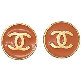 Chanel Gold Tone CC Earrings