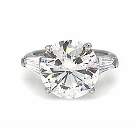 Tiffany & Co. 950 Platinum 6.22ctw Diamond Ring Size 5.5