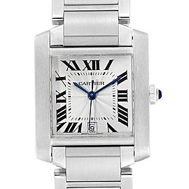 Cartier Tank Francaise Blue Hands Automatic Mens Watch W51002Q3