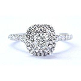 Tiffany & Co. Soleste Platinum Diamond Engagement Ring Size 5.5