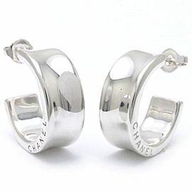 Chanel 925 Sterling Silver Hoop Earrings