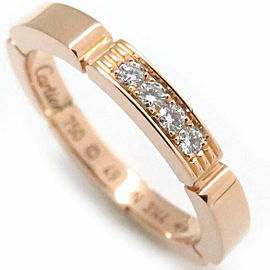 Cartier 18K Rose Gold Maillon Panthere Diamond Ring
