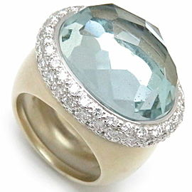 Pomellato 18K WG/ YG Aquamarine, Diamond Ring