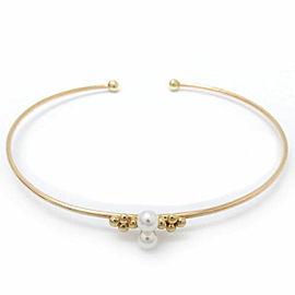 Mikimoto 18K YG Cultured Pearl Bracelet