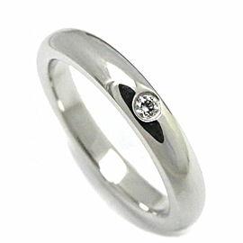 Tiffany & Co. Platinum Diamond Ring Size 3.75
