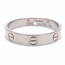 Cartier 18K White Gold Mini Love Ring Size 8.5