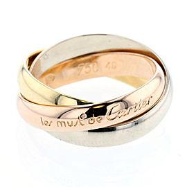 Cartier 18K WG/YG/RG Trinity Ring