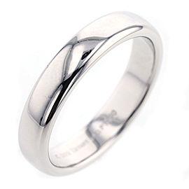 TIFFANY&Co. Platinum Lucida band classic Ring Size 8.25