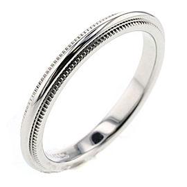 TIFFANY&Co Platinum Millgrainband Ring Size 3.5