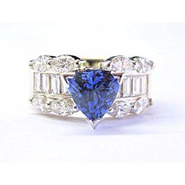 14K Yellow Gold Tanzanite Diamond Ring Size 5.5