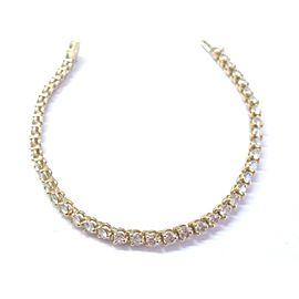 14K Yellow Gold 5.00ctw Round Cut Diamond Tennis Bracelet