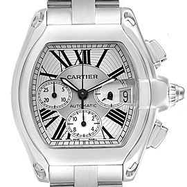 Cartier Roadster XL Chronograph Roman Numerals Mens Watch W62019X6