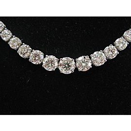 Platinum Round Diamond Riviera Necklace