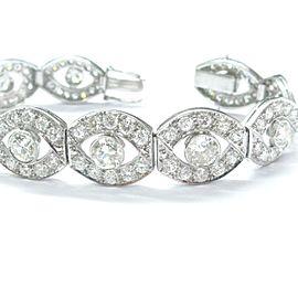 Platinum Vintage Diamond Wide Tennis Bracelet