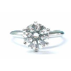 Tiffany & Co. Platinum Diamond Engagement Ring Size 7.5