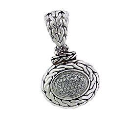 John Hardy Sterling Silver Diamond Pendant