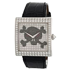 Corum Buckingham Pirate 024.201.69 18k White Gold Diamond Watch