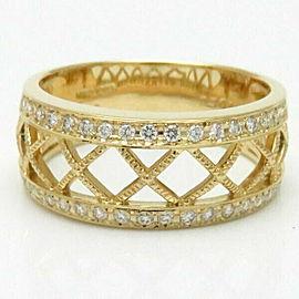 MIKIMOTO 18K YG Diamond Ring Size 10