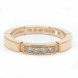 CARTIER 18K RG My Yeong Pantail Diamond 4P Ring Size 4.5