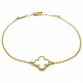 VAN CLEEF&ARPELS YG Sweet Alhambra Mother of Pearl Bracelet