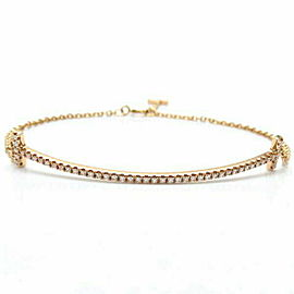 TIFFANY &CO. 750 Pink Gold T Smile Diamond Bracelet