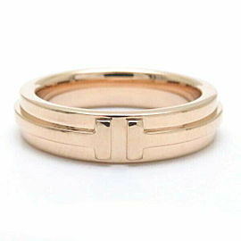 TIFFANY & CO. 750 Pink Gold T TWO Ring Size 6