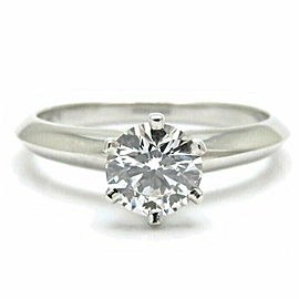 TIFFANY & CO. Platinum 950 Solitaire Diamond Ring Size 6.5
